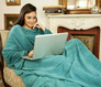 Cobertor com manga